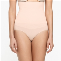 Nude smooth and seam-free high-waist shaping brief that sits just below the bra line.
