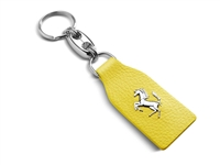 Ferrari Genuine Yellow Leather Keychain