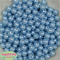 10mm Baby Blue Faux Pearl Beads
