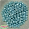 10mm Light Blue Faux Pearl Beads