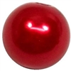10mm Red Faux Pearl Bead