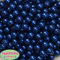 10mm Royal Blue Faux Pearl Beads