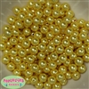 10mm Yellow Faux Pearl Beads