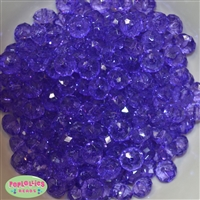 12mm Clear Purple Abacus Acrylic Beads
