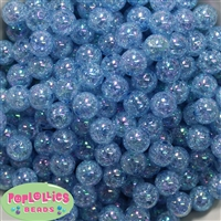12mm Baby Blue Crackle Beads