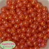 12mm Orange Crackle Beads