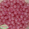 12mm Pink Crackle Beads