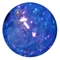 12mm Royal Blue Crackle Bead