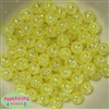 12mm Yellow Crackle Beads