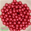 12mm Red Crinkle Pearl Beads 40 pc