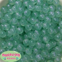 12mm Mint Frost Beads