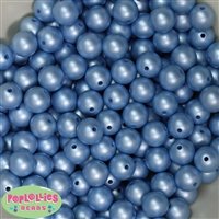 12mm Matte Baby Blue Pearl Bead