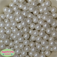 12mm Matte White Pearl Bead