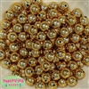 12mm Gold Mirror Beads 40 pc