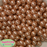 12mm Champagne Faux Pearl Beads