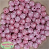 12mm Pink Polka Dot Beads