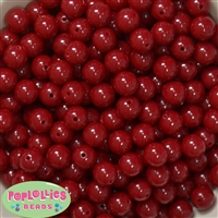 12mm Burgundy Acrylic Beads 40 pc