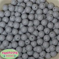 12mm Solid Light Gray Beads