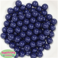 12mm Navy Acrylic Beads 40 pc