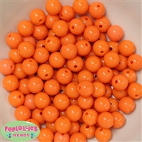 12mm Solid Orange Acrylic Beads 40 pc