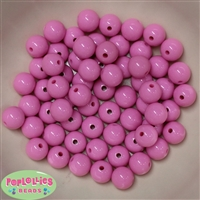 12mm Pink Acrylic Beads 40 pc