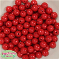 12mm Red Acrylic Beads 40 pc
