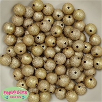 12mm Gold Stardust Beads 40 pc