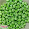 12mm Lime Stripe Beads 40 pc