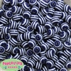 12mm Navy Blue Stripe Beads 40 pc