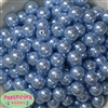 14mm Baby Blue Faux Pearl Acrylic Beads