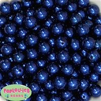 14mm Royal Blue Faux Pearl Acrylic Beads