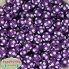 14mm Purple Polka Dots 20 pack