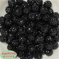 14mm Black Rhinestone Bulk 100 pack