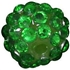 14mm Christmas Green Rhinestone Bead