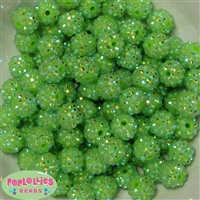 Bulk 14mm Lime Rhinestone Beads