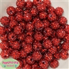 14mm AB Red Rhinestone 20 pack