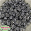 14mm Silver Rhinestone 20 pack