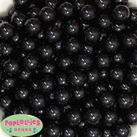 14mm Black Acrylic Beads