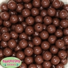 14mm Brown Acrylic Beads