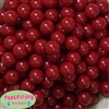 14mm Burgundy Acrylic Beads