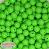 14mm Lime Green Acrylic Beads