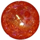 16mm Orange Crackle Bead