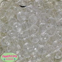 16mm Clear Facet Beads