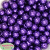 Bulk 16mm Dark Purple Faux Pearl Beads