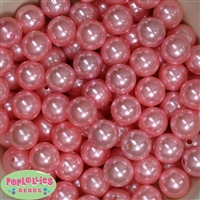 16mm Pink Faux Pearl Acrylic Beads