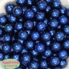 16mm Bulk Dark Royal Blue Faux Pearl Beads