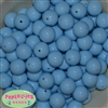 16mm Baby Blue Solid Beads