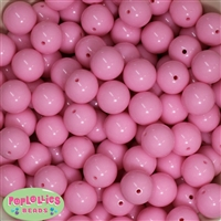 16mm Baby Pink Solid Beads Bulk