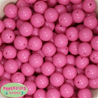 16mm Bubblegum Pink Solid Beads Bulk