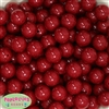 16mm Burgundy Solid Beads